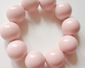baby pink large round plastic bead bracelet great chunky costume jewellery Great for Summer