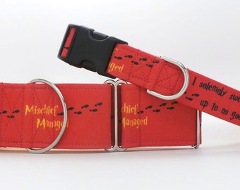 I Solemnly Swear GRYFFINDOR Dog Collar (Martingale, Buckle or Tag)