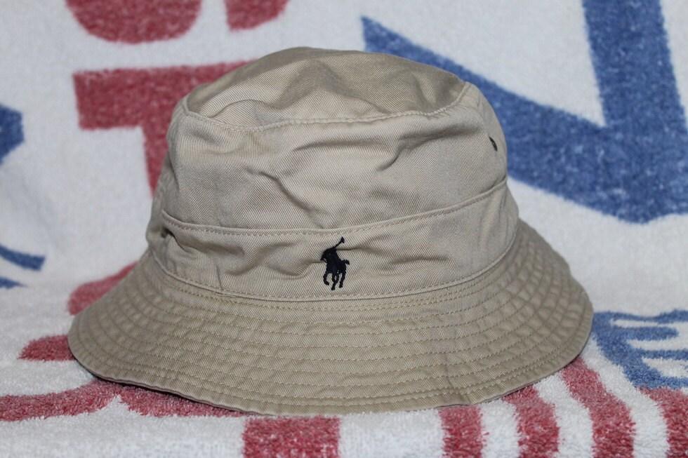 Vintage polo ralph lauren pony bucket hat golf sportsman for Polo fishing hat