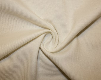 """Ivory Ponte Di Roma Double Knit Polyester Spandex Lycra Stretch Medium Weight Apparel Craft Fabric 58""""-60"""" Wide By The Yard"""
