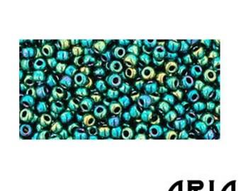 Higher METALLIC TEAL IRIS (506): 11/o Toho Japanese Seed Beads (10 grams)