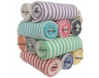 Acacia Turkish Hammam Towel Peshtemal Towel Pestemal Towel Beach Towel Bath Towel Cotton Spa Sauna Pool Towel