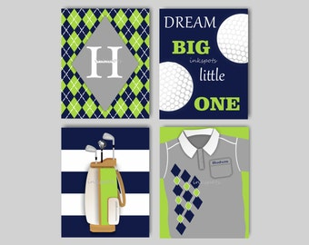 Baby Boy Nursery Art Golf Prints Golf Wall Art Sports Nursery Art Golf  Nursery Art GolfGolf nursery   Etsy. Golf Decorated Rooms. Home Design Ideas