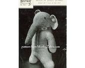 Vintage Knit Pattern Jolly Jumbo elephant PDF 465 from WonkyZebra