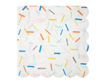 "CLEARANCE! Sprinkles Party Napkins (Set of 16) - Meri Meri 6.5"" Large Napkins"