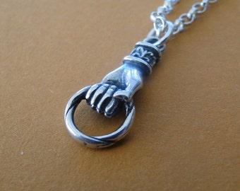 Sterling silver Amulet Holder....