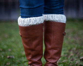 Knit Chunky Boot Cuff Warmers || THE SOLOMONS || Fisherman