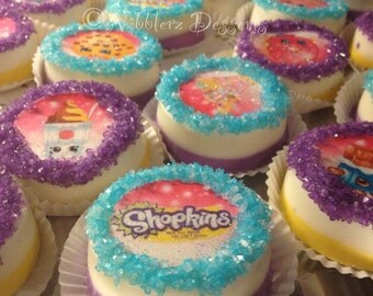 12 SHOPKINS chocolate covered OREO cookies, two tone chocolate