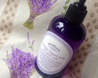 Lavender Liquid Soap with Goats' Milk