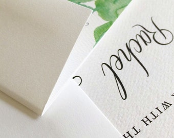 Cactus Wedding Invitation Deposit - Desert Wedding Invite - Succulent Wedding Invitation