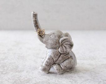 Elephant Ring Holder - Lucky Elephant Ring Holder - Elephant Decor
