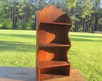 Wood shelf, Vintage shelf, Wall Decor, Wall Hanging, cubbie,country decor, rustic decor, collectible Display Shelf, Curio Shelf