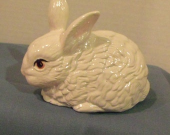 Rabbit in White Porcelain
