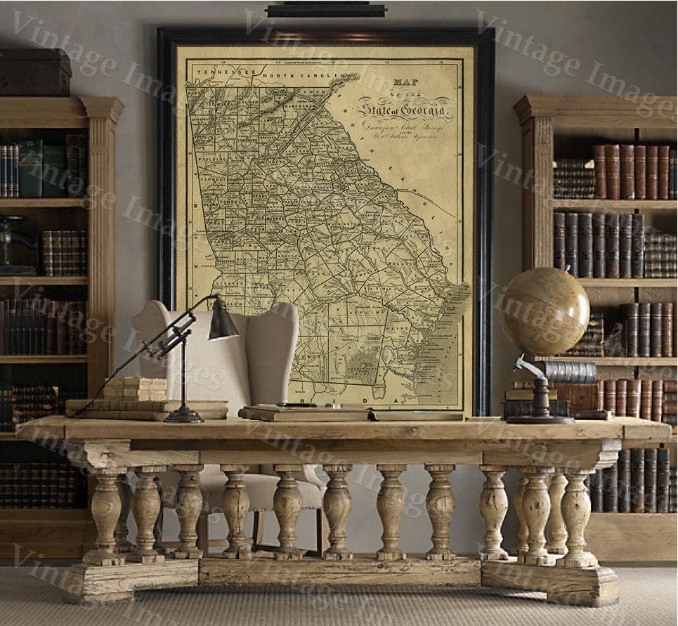 Georgia Map Antique Map Of Georgia Antique Restoration