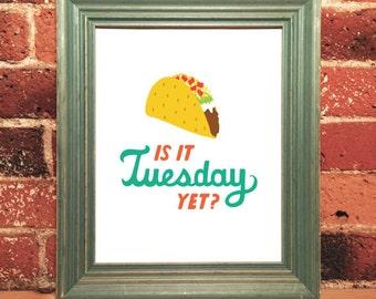Taco Tuesday print