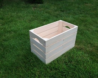 Large Wooden Crate Box Vegetable Plaint Soil Window Sturdy Box Storage Natural Engrave Container