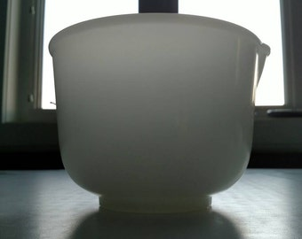 Glasbake Small Mixing Bowl for Sunbeam Mixer White Milk Glass
