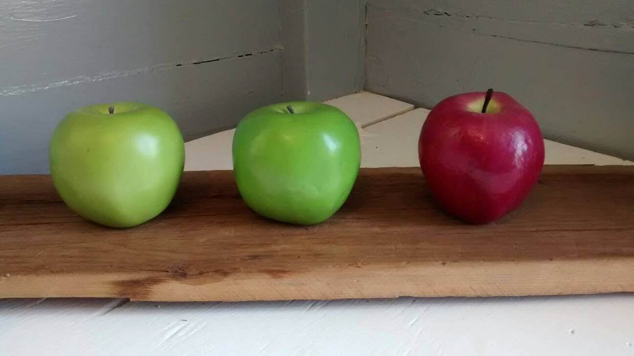Vintage Apples Faux Fruit Red And Green Kitchen Decor