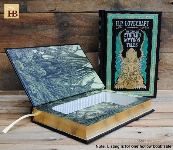 Book Safe - Cthulhu Mythos Tales - Leather Bound Hollow Book Safe