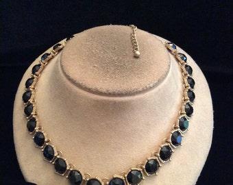 Vintage Black Stone Necklace