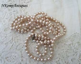 1930's pearls glass for re-purpose