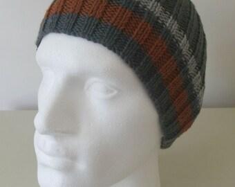 """Knitting Pattern for Men's """"Shale"""" Beanie"""