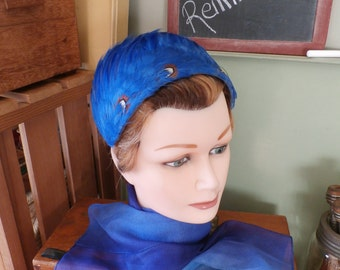 Vintage Feather Head Band Feather Hat