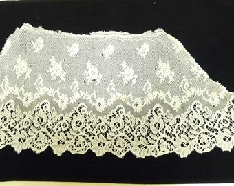 Edwardian Lace Trim, Scalloped Edge, Ecru, Off White, Doll or Toy Making, Wedding, Dressmaking, Steampunk, haberdashery, craft, 00408