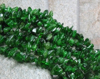 "15% OFF Green Diopside Chips - 16"" strand - Item B0092"