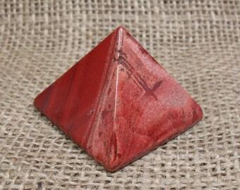 Snakeskin Jasper Pyramid, 1.6 inches - Item 74035