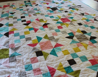Custom Quilt ~ Made to Order Patchwork Quilt ~ Design Your Own Quilt ~ Full Size Patchwork Quilt