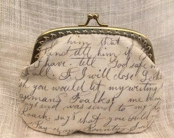 Large Written Letter Coin Purse