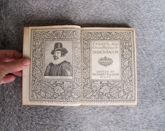 Essay collection vintage book Frances Bacon's Essays and Other Writings