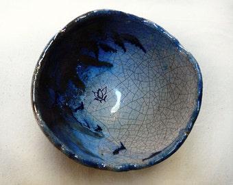Raku Tea Bowl Lotus Collection III