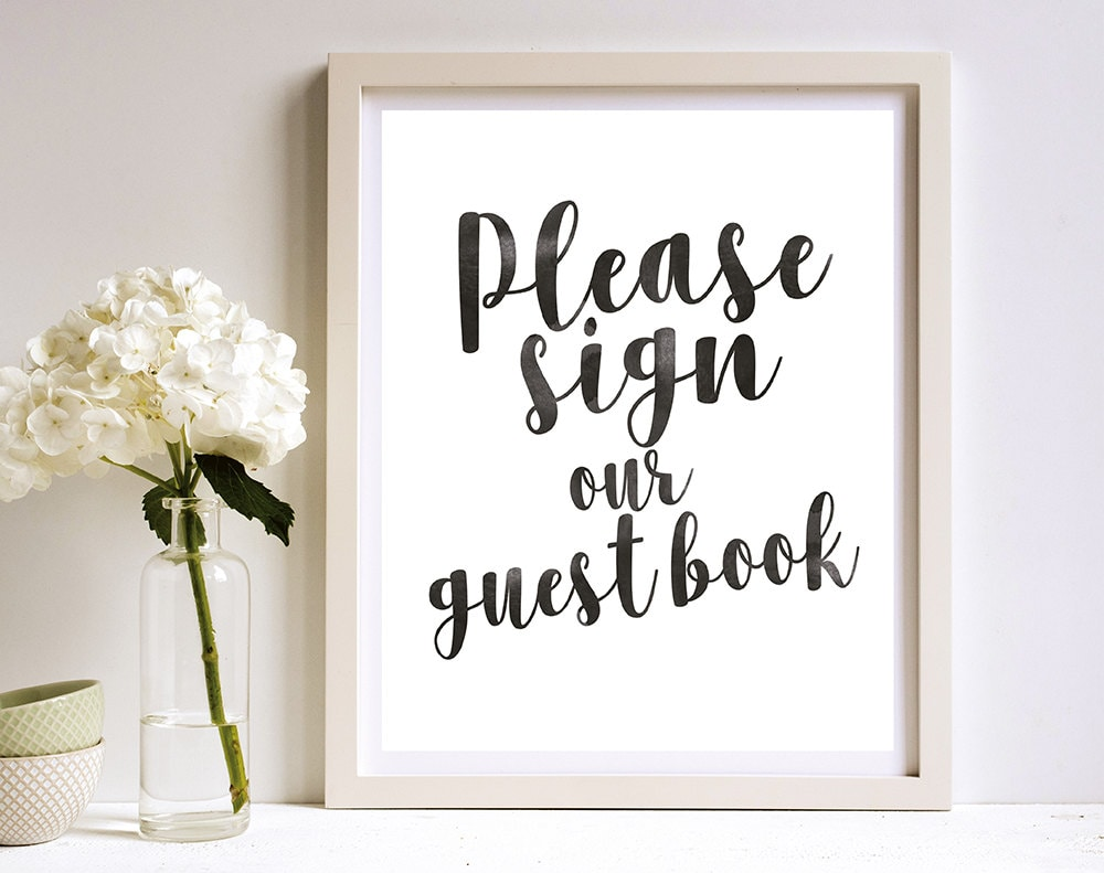 This is an image of Impertinent Please Sign Our Guestbook Free Printable