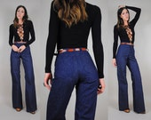 70's indigo SAILOR bell bottom Jeans