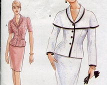 Vogue Suit Pattern 1990's Sewing Pattern Double Breasted Dress Pattern Top Skirt Pattern Vogue 9419 Size 12-16 uncut