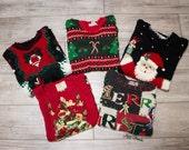 Mystery Vintage Studded Ugly Christmas Sweaters Vests Sweatshirts Oversized Tacky Christmas Sweater