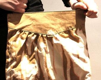 Tie Dye Bleached Grunge Beige Flame Effect Punk Festival Bag