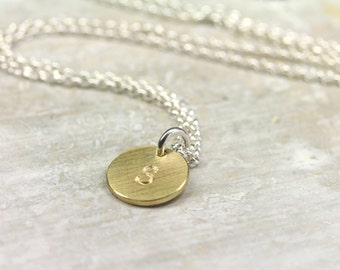 Pendant LETTER 333 yellow gold 10mm with 925 silver chain, initials, letter pendant, chain, font, personalized