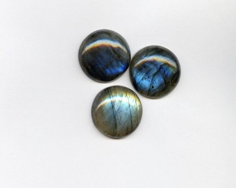 20 mm Natural Round Labradorite Cabochon for One