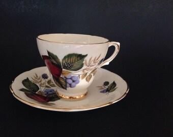 English Bone China Tea Cup and Saucer Delphine