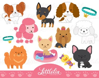 Cute toy dog clipart - dog clipart - 16017