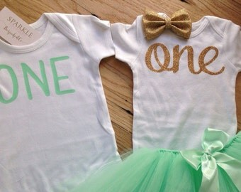 Twin Birthday Set / Boy and Girl Twin Birthday Outfit