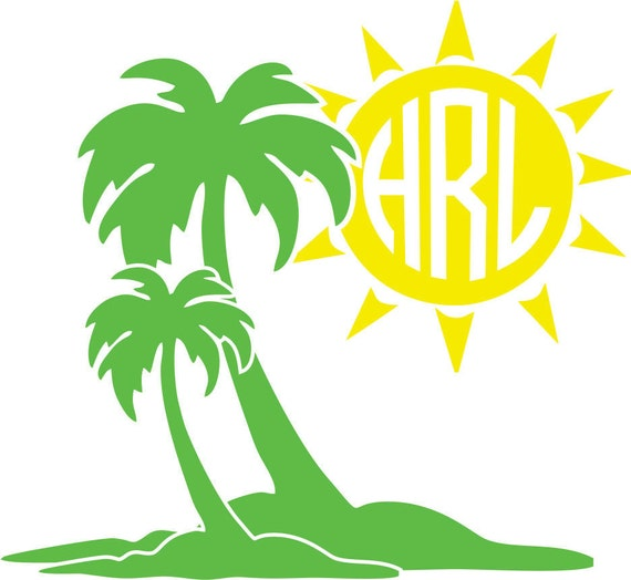 Palm tree sun beach monogram frame only instant digital download ...: https://www.etsy.com/listing/254904258/palm-tree-sun-beach-monogram...