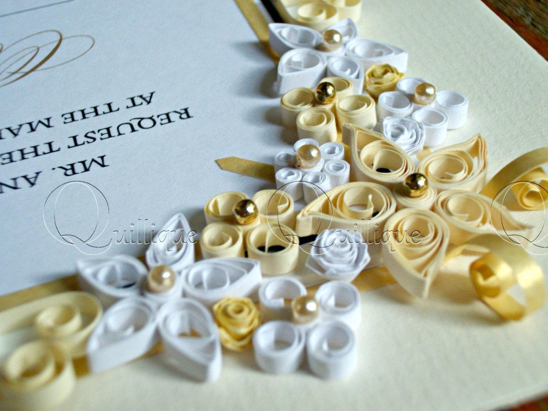 Personalised Wedding Gifts Vintage : Vintage Style Custom Wedding Gift / Quilled & Framed Wedding