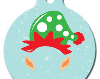 Santa's Helper Elf Pet ID Tag
