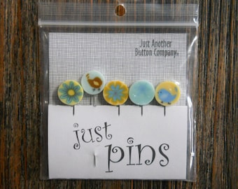 Notions: Just Pins - Yellow Lemonade JP104Y - Decorative Pins
