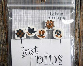Notions: Just Pins - Quaker Stitches JP124 - Decorative Pins