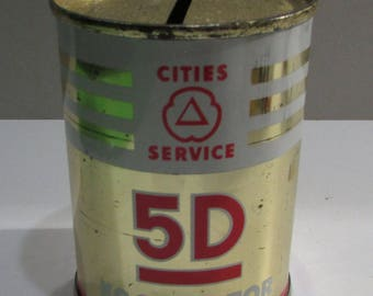 Vintage 5D Koolmotor Cities Service Coin Bank